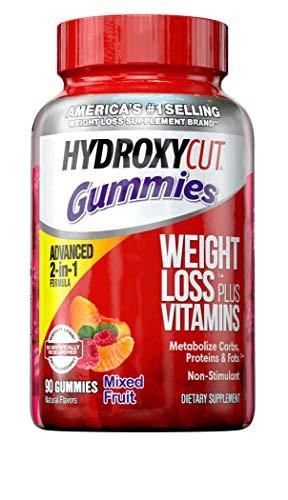 Weight Loss Gummies for Women & Men | Hydroxycut Caffeine-Free Weight Loss Gummy | Non-Stim Weight Loss Supplement…
