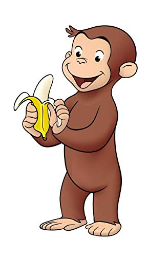 - Curious George Banana Edible Cake Topper Image ABPID08510 - 1/4 sheet