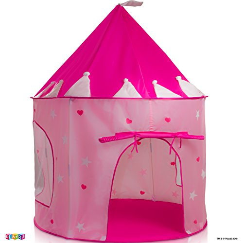 Play22 Play Tent Princess Castle Pink - Kids Tent Features Glow in The Dark Stars - Portable Kids Play Tent - Kids Pop Up Tent Foldable Into A Carrying Bag - Indoor and Outdoor Use - Original by Play22 (Image #7)
