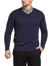 Tansozer Pullover Herren V Ausschnitt Neck Slim Fit Business 100 Baumwolle