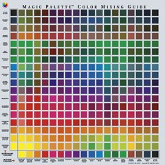 Color Wheel Personal Magic Palette Color Mixing Guide, 11-1/2 X 11-1/2 in