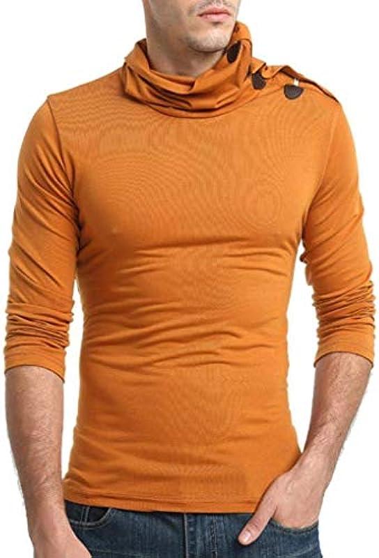 Longra męski Basic sweter jednokolorowy z pulower z rolkowym kołnierzem kołnierz rolowany drobny haft prosty styl sweter z bawełny miękki bluza z kapturem męski Nner jesień zima długi r