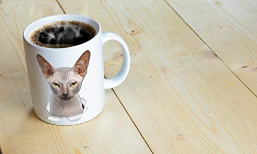 Grumpy Sphynx Cat Mug - Canadian Sphynx Cat Ceramic Coffee Mug - Perfect Sphynx Cat Gifts - Funny Sphynx Cat Coffee Mug for Cat Lovers (11oz) 24