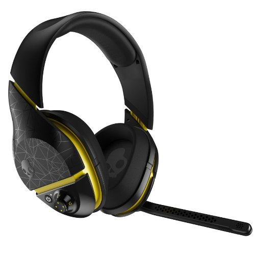 (Skullcandy PLYR2 Surround Sound Wireless Gaming Headset, Black/Yellow (SMPLFY-207))