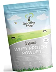 Organic Whey Protein Powder 600g (Unflavoured) - High in Amino Acids and BCAAs, Free 15g Scoop - 80% Pure Organic Whey Protein from Grass Fed Cows by TheHealthyTree Company