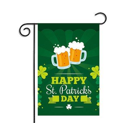 St. Patrick's Festival Flag Garden Flag Slogan Banner (2 Side House Banner)