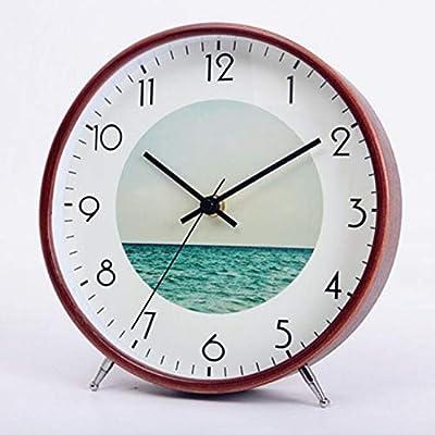 CWLLWC Reloj, Mesa de la Sala de Estar, Reloj de Mesa, Reloj de ...