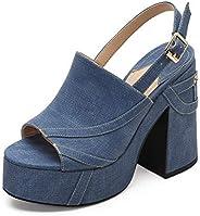 MACKIN J 618-2 Women's Platform Chunky Heel Open Toe Ankle Strap Dress Wedge San