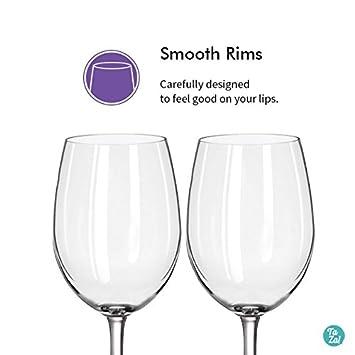 shatterproof plastic wine glasses 20 oz By TaZa Design -Set of 4 Unbreakable White//Red Wine glasses Smooth Rim 100/% Tritan Dishwasher-safe