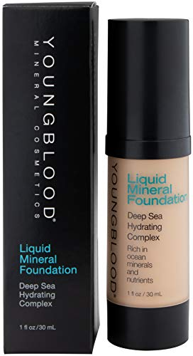 YOUNGBLOOD Liquid Mineral Foundation - 1 Oz, Color Shell