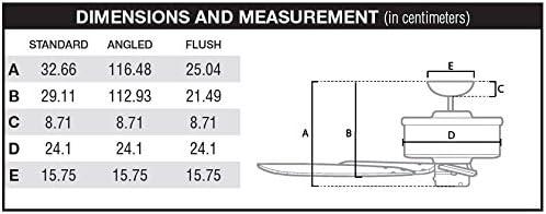 Hunter Fan 24179 Bayport Ventilateur de plafond 107/cm Nickel Bross/é