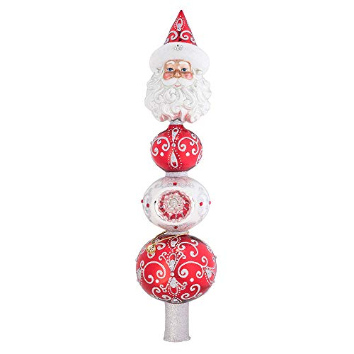 Christopher Radko Hand-Crafted European Glass Christmas Decorative Finial Tree Topper, Luxurious Nick (Trees Luxurious Christmas)