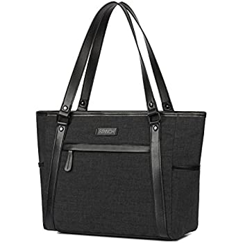Amazon.com: Laptop Tote, BRINCH Classic Canvas Zip Work Tote Bag ...