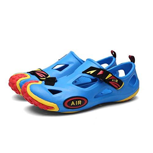 Agua Zapatillas Antideslizante De Transpirable Playa De De De Sandalias Blue Hombres Ocasionales YWNC Agujero Fuga Zapatos Jardín Los 8zwpxX