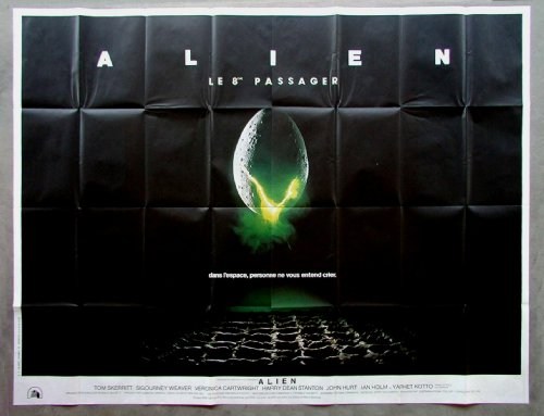 Alien Huge French Movie Poster 78″ X 59″