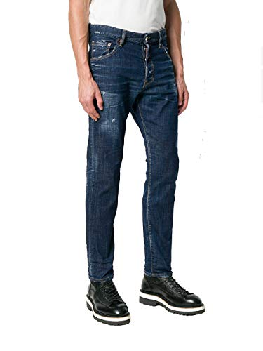 Blue Dsquared2 Cotton S71lb0508s30342470 Men's Jeans 1ABpqfw