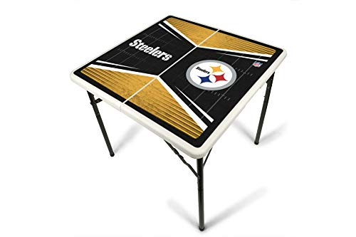 PROLINE NFL Pittsburgh Steelers 2.5' x 2.5' Folding Plastic Tailgate Table