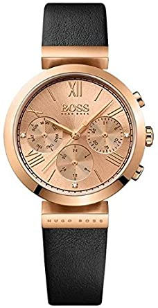 93217c30d hugo boss Classic Sport Women's Rose Gold Dial Leather Band Watch - 1502397