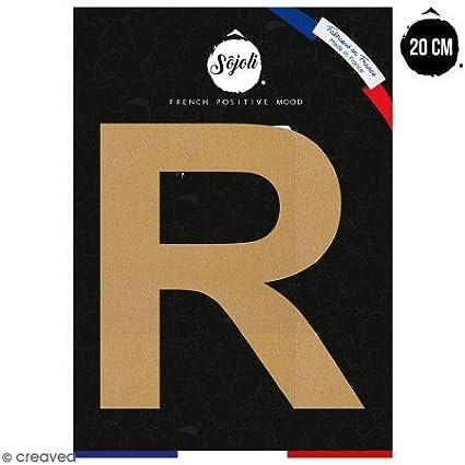Lettre R en bois à décorer - 20 cm - Collection Alphabet sans serif Sôjoli