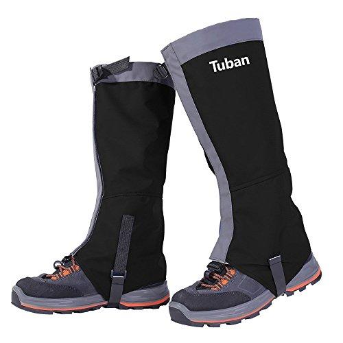 Tuban Hiking Gaiters Ski Snow Gaiters Waterproof Boot Gaiters Leg Gaiters High Gaiter Breathable 420d Nylon Men's Gaiters TPU Strap