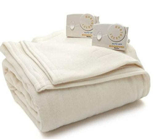 Biddeford Blankets Comfort Knit Heated Blanket, King, Cloud