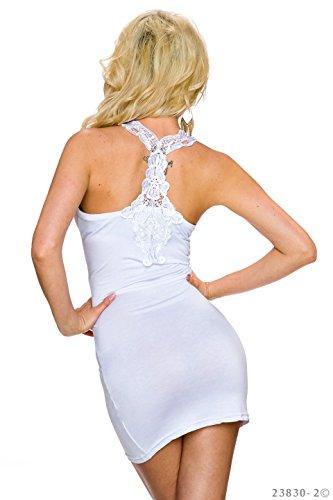 keine Vestido blanco verano keine sin mangas de aAa0x1