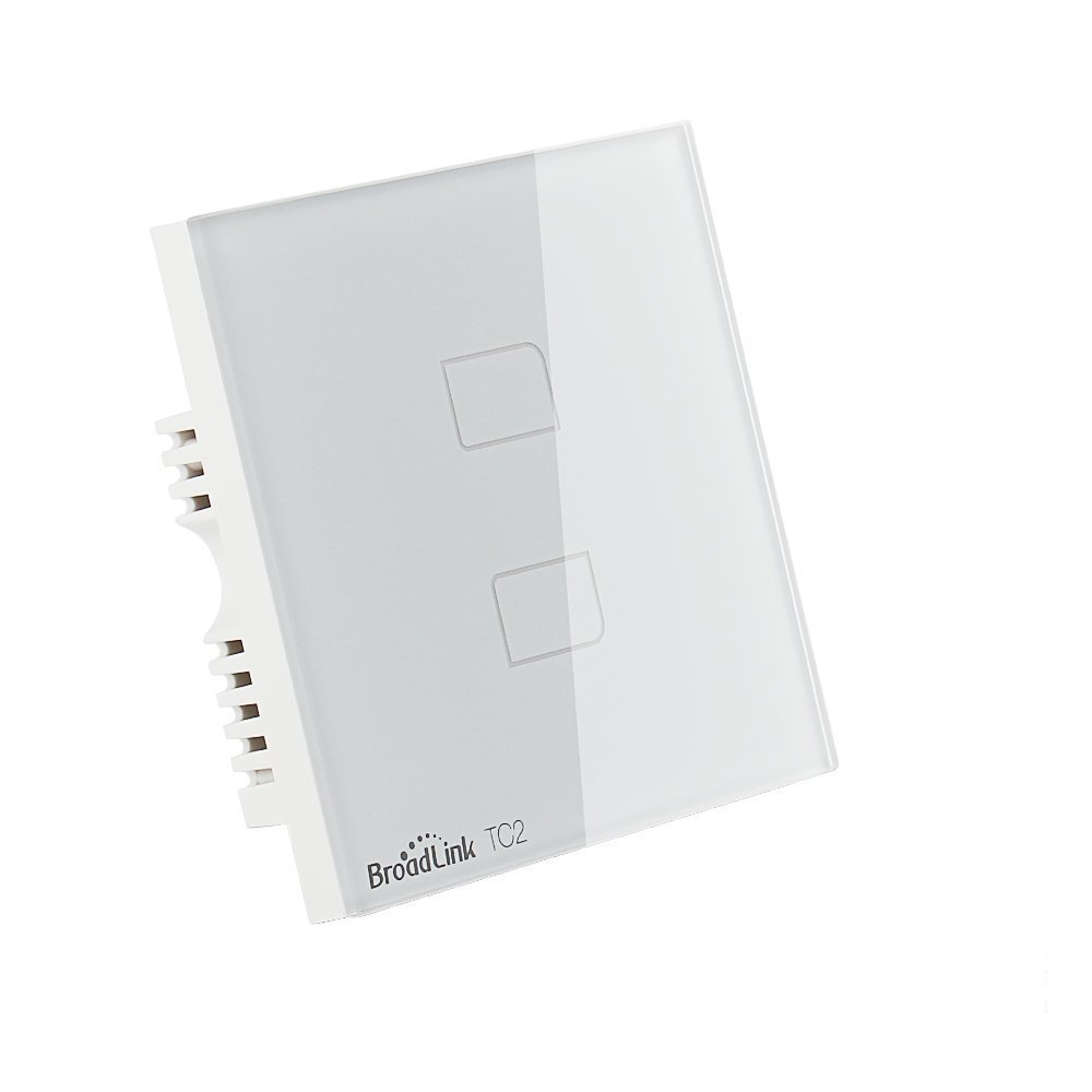 Broadlink 2 Gang 1 Way Crystal Glass Touch Switch Light Wall Wire Uk L1 L2 L3 Switches Standard With Led Indicator White Lighting