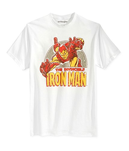 Buy mighty fine mens iron man swoop graphic t-shirt