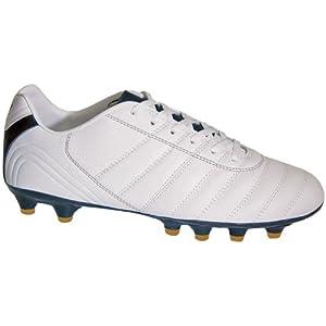 Vizari Maracana FG Soccer Cleat - White/Black/Gold - 10 M US Mens