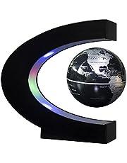 Senders Floating Globe With LED Lights C Shape Magnetic Levitation Floating Globe World Map for Desk Decoration
