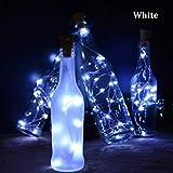 Loveje Bottle Stopper Light LED String Lights Cork Shaped Bottle Stopper Lights Party Decoration Light (Type2 White(Flashing), 20 LED)