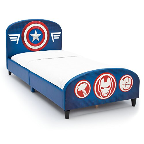 Delta Children Upholstered Twin Bed, Marvel Avengers (Courage Twin)