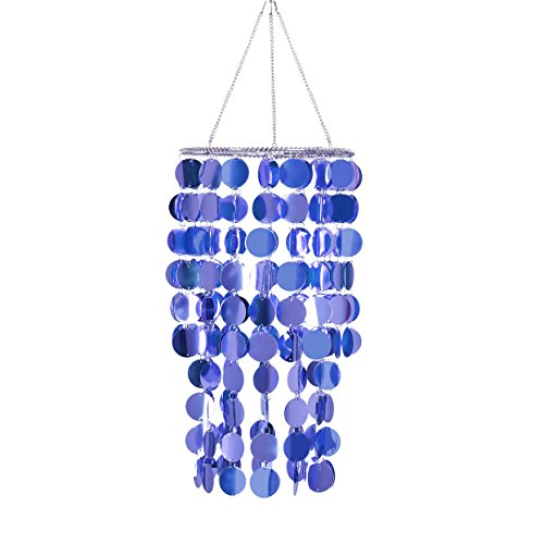FlavorThings Bling Hanging Chandelier Great idea for Wedding Chandeliers Centerpieces Decorations and Any Event Party Decor (Light Purple) -