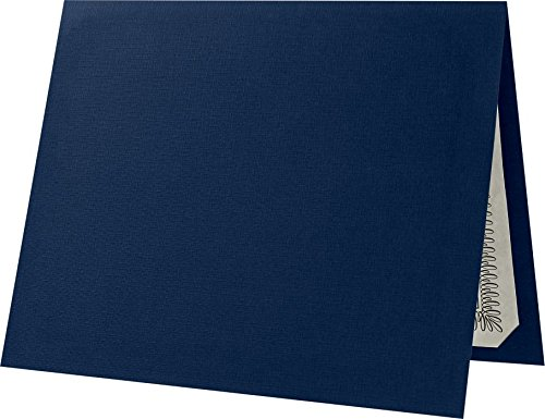 Certificate Holders (9 1/2 x 12) - Dark Blue Linen (25 Qty.) | Perfect for Award Recognition, Certificates, Documents and More! | CHEL-185-DDBLU100-25
