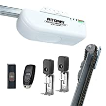 Skylink AT-1611 Half HPS Atoms Extremely Quiet Chain Drive Garage Door Opener with Built-In LED, White