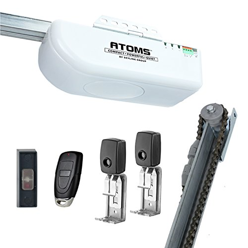 ATOMS AT-1611 - By Skylink 1/2HPF Extremely Quiet Garage Door Opener with Built-In LED, White, Chain Drive
