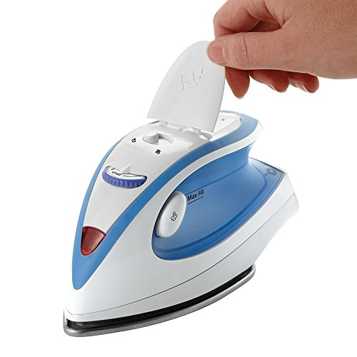 Travel Iron Compact Turbo Steam Non Stick Soleplate Anti-drip/slip with Shot of Vertical feature and 360-degree Swivel Cord, Dual Voltage Lightweight Best For Handle