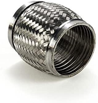 Squirrelly 3  x 4  Exhaust Flex Pipe 304 Stainless Steel Interlocking Liner Coupler For High Performance Applications  sc 1 st  Amazon.com & Amazon.com: Squirrelly 3