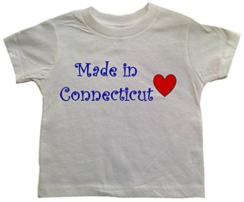 MADE IN CONNECTICUT - CONNECTICUT TODDLER - State-series - White Toddler T-shirt - size Small (2T)