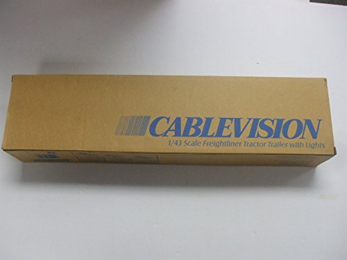 ERTL 1/43 Scale Collectibles Freightliner Cablevision Tractor Trailer with Lights