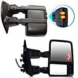 T-Former DOT Approved Towing Mirrors w/Smoke Signal Light Mirror for Pickup Truck 2009-2016 Ford F250 F350 F450 F550 View Side Mirrors Arrow Signal Light