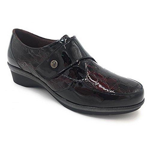 5211 Negro Plantillas Velcro Zapato Pitillos Combinado qUnY78SS