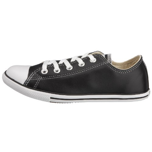 Converse Slim Chuck Taylor Low Top Shoes in Black Leather (113937), Size: 10 Mens 12 Womens