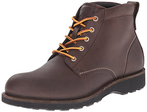 ECCO Men's Holbrok Plain Toe Boot, Dark Clay, 46 EU/12-12.5 M (Ecco Plain Boots)