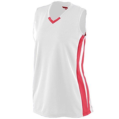 Augusta Sportswear Women's Wicking Mesh Powerhouse Jersey S White/Red ()
