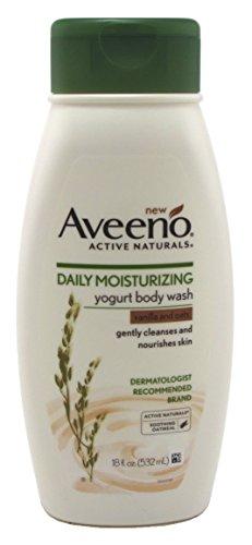 Aveeno Body Wash Yogurt Vanilla & Oats 18 Ounce (532ml) (3 Pack)
