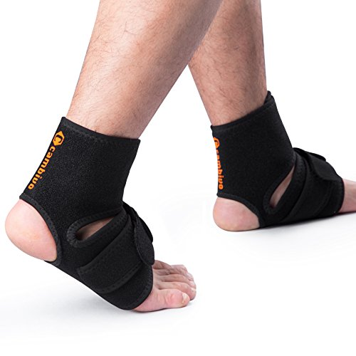 CAMBIVO Ankle Brace Stabilizer, Ankle Support Breathable for Ankle Sprain, Injury Recovery, Joint Pain, Plantar Fasciitis, Eases Swelling, Heel Spurs, Achilles Tendon, 2 Pack