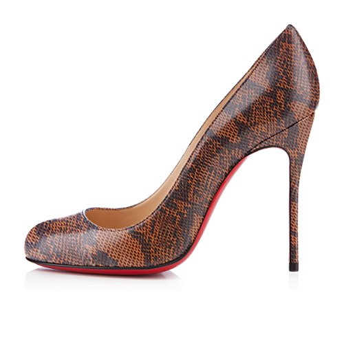 Talon Ubeauty Rond Escarpins Chaussures Femmes Stiletto Serpentine Grande Aiguille Bout c Taille xYwFxOX