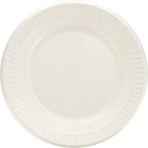 Dart 10PWQR 10.25 in White Laminated Foam Plate (Case of 500)