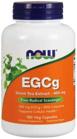 NOW Foods EGCg, Green Tea Extract, 400mg, 180 Vcaps Pack of 2
